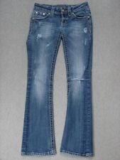 RL13434 **MISS ME** BOOT CUT WOMENS JEANS sz26 DISTRESSED!