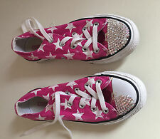 CONVERSE ALL STAR LADIES SIZE 4 SPARKLE TRAINERS/CASUAL SHOES