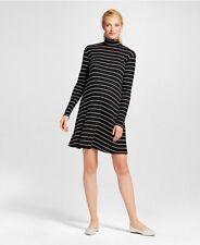 Maternity Pregnancy Women's New Liz Lange Dress size XL black white stripe