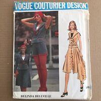 Vogue 2613 Sewing Pattern Belinda Bellville Size 10 Couturier Vintage FF Uncut