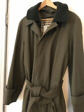 Men's 38R Burberry Trench Coat With Removable Wool Lining
