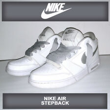 FRESH! Nike Air Stepback Men's Basket ball Shoes White/Metallic Silver Hip Hop F