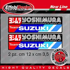YOSHIMURA SUZUKI 2 adesivi alte temperature 200 GRADI marmitte scarichi moto