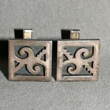 Jewelry Cuff Links STERLING SILVER .925 Signed TAXCO MEXICO ROMERO