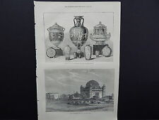 Illustrated London News Full-Page S7020 Aug1871 Tomb of Mohammed Adil Chah India