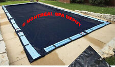In ground pool WINTER COVER DELUXE, rectangle 14' x 28' with tube holding straps