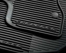 OEM 2016 Ford Explorer ALL-WEATHER Mats, 4-PC SET, BLACK (FB5Z-7813300-BA)