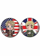 *NEW* Hetalia: America & England Button (Set of 2) by GE Animation