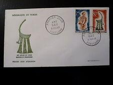 TCHAD 90+92   PREMIER JOUR  FDC    ART SAO, STATUETTE ,PECTORAL    25+80F   1963