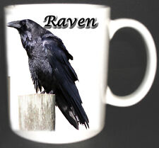 RAVEN  BIRD DESIGN MUG LIMITED EDITION GIFT. THE COMMON RAVEN CROW FAMILY