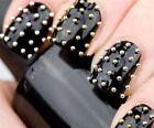 1200pcs Gold & Silver Stud 3D Design Nail Art Decoration Stickers Metallic Studs