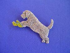 Petit Basset Griffon Vendeen Butterfly Pin #91E dog jewelry by Cindy A. Conter