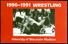 1990 WISCONSIN BADGER OFFICIAL WRESTLING POCKET SCHEDULE FREE SHIPPING