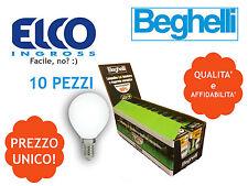 Beghelli lampadina led 2.5w E14 sfera eco tutto vetro 3000K 56904 10 PEZZI