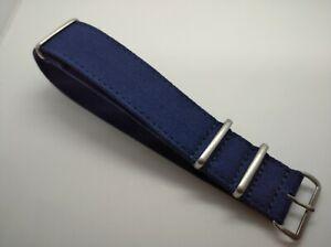 New 24mm Blue Vintage Canvas Divers Watch Strap U93
