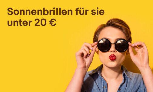 Sonnenbrillen für sie unter 20 €