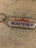 Vintage California License Plate Monterey Keychain Golden State 1990's
