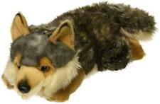 "L@@K Aurora Wolf Lying Down 11"" Long 26264 Stuffed Animal Soft Baby Toy NEW"