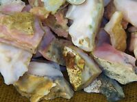 3000 Carat Lots of Very High End Pink Opal Rough - Plus a FREE Faceted Gemstone