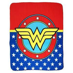 DC Comics Wonder Woman Logo Amazonian Princess Soft Fleece Throw Blanket
