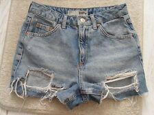 Ladies BNWOT Topshop Petite Ripped Denim Shorts Size 6 (LOF)