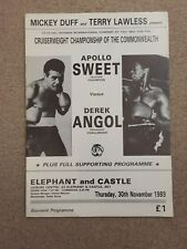 Boxing Apollo Sweet V Derek Angol Commonwealth Cruiserweight Championship 1989