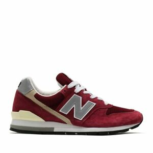 New Balance 996 Made in USA Suede Burgundy Red M996BR Casual Sneakers Kith RF