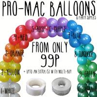 Balloon Arch Kits Pearl Latex Balloons Party Birthday Wedding glue dots chain 5m
