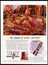 1946 pheasant & hunter James Sessions art Stahly shaving razor vintage print ad