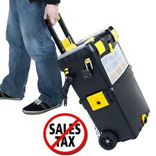 Portable Tool Box Organizer Rolling Toolbox STANLEY Mobile Cart Chest Storage 1d