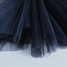 Navy Blue Soft Tulle Bridal Fabric With Drape 150cm Wide - by The Metre
