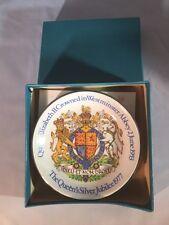 Queen Elizabeth II silver jubilee pin dish Wood & Sons Pride of Britain boxed