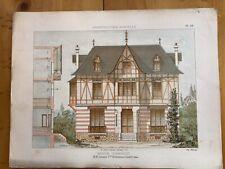 Maison  Normande / Leseine Architecte à Colombes Planche Lithographie