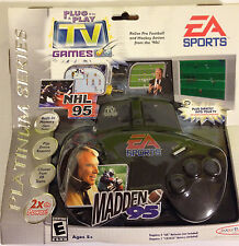 Madden 95 -NHL 95 Plug & Play Games/ EA Sports 2004 New, sealed Football Hockey
