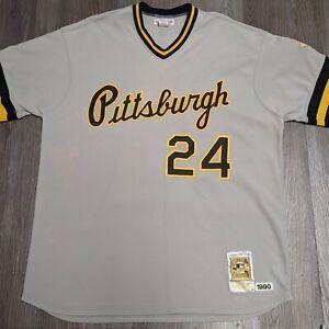 Vtg Barry Bonds Pittsburgh Pirates Men's 52 XXL Mitchell & Ness M&N 1990 jersey