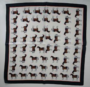 Silk Bandana Square Scarf, Horse Parade, 100% Silk, Perfect Christmas Gift
