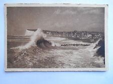 """CPSM """"Mers subit l'assaut des vagues"""""""