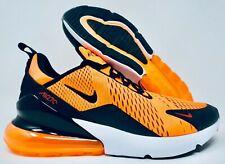 more photos a98ec 9bc5d Nike Air Max 270 Mens Running Shoes Total Orange Black White Size 12