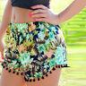 Summer Women Ladies High Waist Casual Floral Beach Hot Pants Shorts Size 6-14 UK