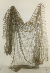 10x10 Authentic Used Fishing Net Vintage Fish Netting Nautical Maritime Decor