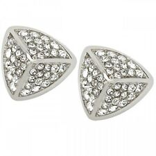 NEW-FOSSIL SILVER TONE,STAINLESS STEEL,GLITZ,PAVE STUD EARRINGS JF01401040
