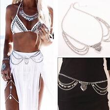 Boho Women Charm Gypsy Multilayer Sequins Tassel Belt Waist Belly Body Chain