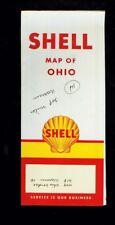 1950's Shell Ohio foldout map