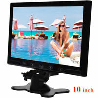 "Mini 10.1"" LCD CCTV Monitor HD PC Screen AV RCA VGA HDMI 1080p for Raspberry PI"