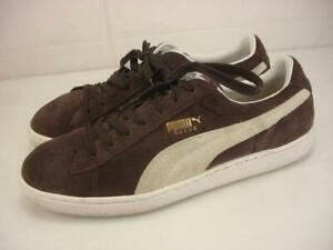 Mens 12 M Puma The Suede Classic Brown Suede Leather Shoes Sneaker Retro Lace-Up