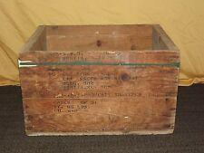 """VINTAGE WWII LARGE 25"""" X 20"""" WAR ASSETS TYPEWRITER BOX SCOTIA NY"""