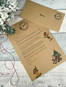 Letter From Santa Father Christmas, Christmas Eve Box Filler, Hand Drawn Design