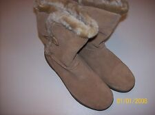 Bass Womens Snowflake Boots 9 M Taupe