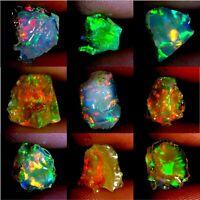 100% Natural Ethiopian Multi Fire Opal Rough Ethiopia Loose Gemstone RJ-04