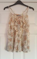 Floaty vest top - Marks & Spencer, limited, size 10/12, BNWT, peach grey floral